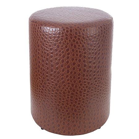 Sitzhocker Krokodilleder- Imitat hellbraun Maße Ø 34 x 60 cm