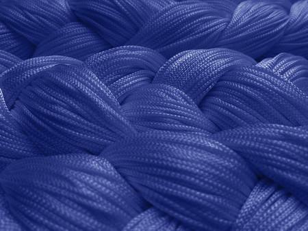 Fadenvorhang 150 cm x 500 cm (BxH) blau in B1 schwer entflammbar