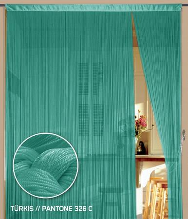 Fadenvorhang 150 cm x 300 cm (BxH) türkis