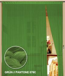 Dieser Fadenvorhang von der Marke Kaikoon der Grösse 150 cm x 500 cm in grün ist super geeignet als Raumteiler.