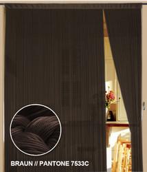 Diese Gardine von der Marke Kaikoon der Grösse 090 cm x 240 cm in braun ist super geeignet auch als Raumteiler