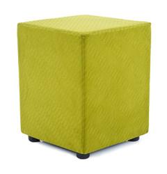 Cubes Hocker Sitzhocker Sitzwuerfel Mikrofaser grün