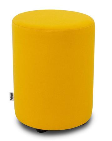 Sitzhocker Filz gelb Ø 34 cm x 47 cm