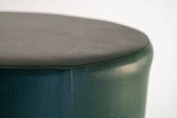 Cubes Hocker Sitzhocker Sitzwuerfel Kunstleder dunkelgrün