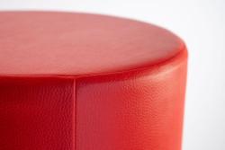 Cubes Hocker Sitzhocker Sitzwuerfel Kunstleder Rot