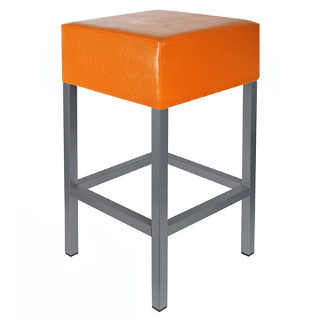Barhocker Anthrazit / Orange Maße: 34 cm x 34 cm x 65 cm