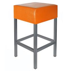 Barhocker Anthrazit / Orange Maße: 34 cm x 34 cm x 65 cm