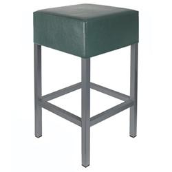 Barhocker Anthrazit / Dunkelgrün Maße: 34 cm x 34 cm x 65 cm