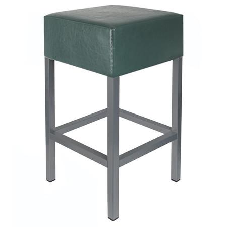 Barhocker Anthrazit / Dunkelgrün Maße: 34 cm x 34 cm x 82 cm