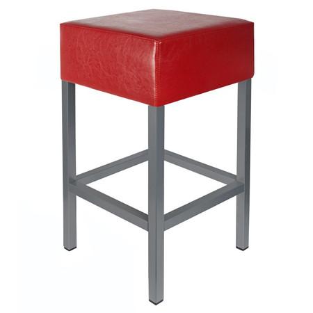 Barhocker Anthrazit / Rot Maße: 34 cm x 34 cm x 82 cm