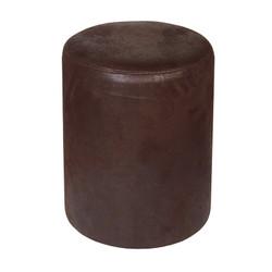 Sitzhocker rund dunkelbraun exclusiv von Kaikoon