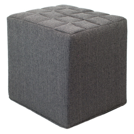 Sitzwürfel grau Stoff  Styroporkern 40 cm x 40 cm x 45 cm