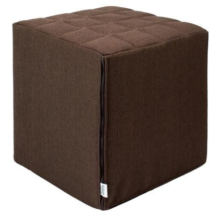 Sitzwürfel braun Stoff  Styroporkern 40 cm x 40 cm x 45 cm