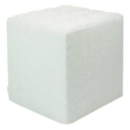 Sitzwürfel mintgrün Stoff  Styroporkern 40 cm x 40 cm x 45 cm