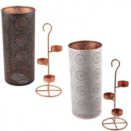 Teelichthalter für 3 Teelichter ORIENTAL Kerzenhalter Windlicht Kerzenständer schwarz weiß  – Bild 1