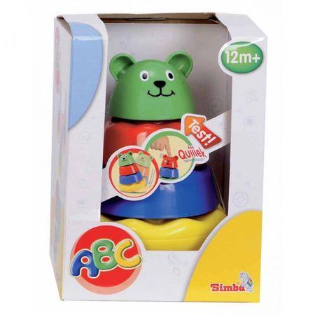 SIMBA ABC Tierpyramide Bär Hund Katze Stapelspielzeug Babyspielzeug Spielzeug Motorik  – Bild 2