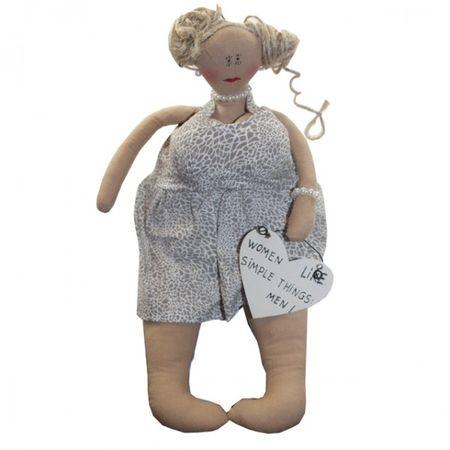 Kantensitzer Lady Fensterbank 15 cm Figur Schild Spruch englisch Kamin Dekoration  – Bild 3