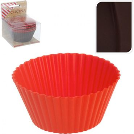 8-tlg. Muffin Backform Set Backen Kuchen Backform Küche Zubehör Kochen braun + rot