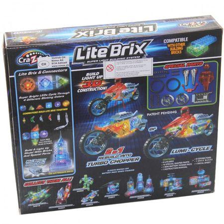 Cra-Z-Art 35802 Lite Brix Lumi Cycle Motorrad Spielzeug Baukasten 3D LED Lights Construction – Bild 2