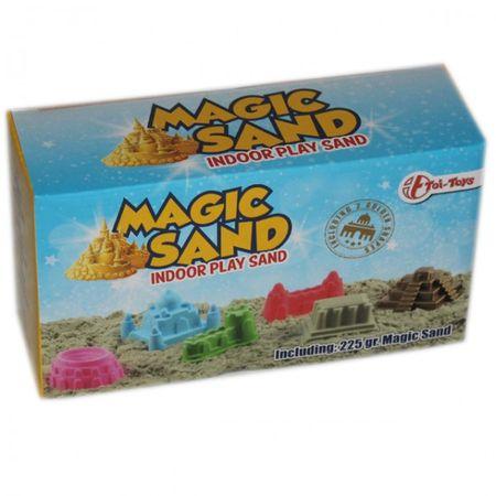 Magischer Sand 225g mit 2 Schloss Formen Indoorsand Innen Spielzeug Basteln mehrere Farben – Bild 1