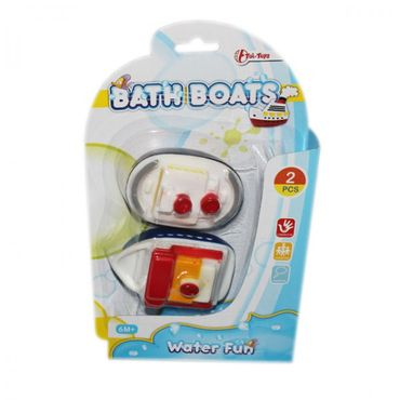 Baby Badeboot Set 2 Stück ab 6 Monaten Badewannen Spielzeug Baden Kleinkind Gummi Boot  – Bild 3