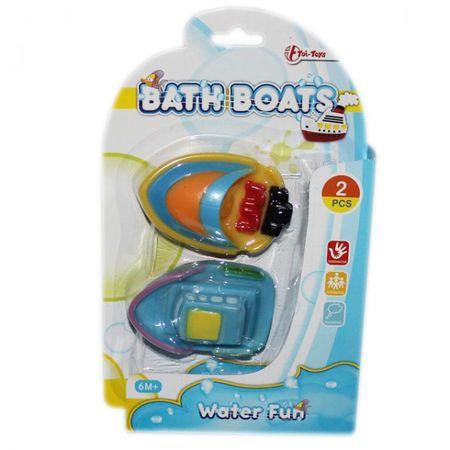 Baby Badeboot Set 2 Stück ab 6 Monaten Badewannen Spielzeug Baden Kleinkind Gummi Boot  – Bild 2
