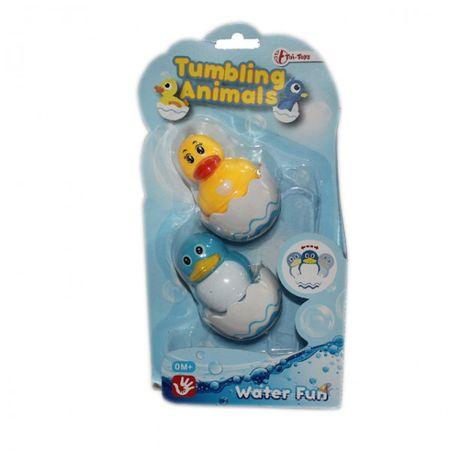 Badewannen Spielzeug Baby Schwimmen Wackel Ente Pinguin Badespaß Kleinkind ab 0 Monaten – Bild 3