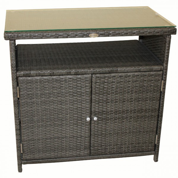 sideboard belmonte alu kunststoffgeflecht rattan optik. Black Bedroom Furniture Sets. Home Design Ideas