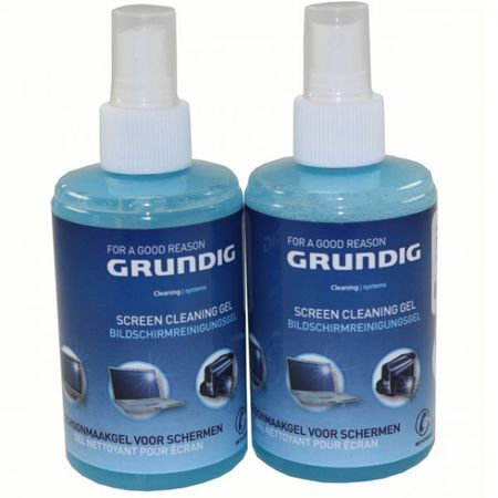 2er Set GRUNDIG Bildschirmreinigungsgel Spray Sprühflasche 2x 200ml Screen clean