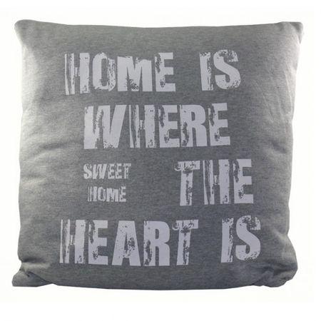 Kissen bedruckt HOME 45x45cm mit Reißverschluss gefüllt Deko Couch Wohnzimmer Sofa – Bild 7