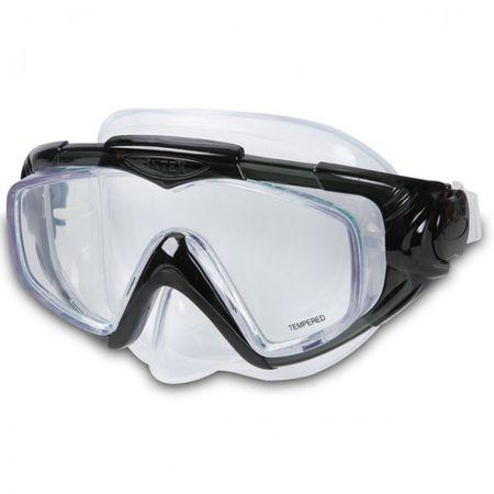 INTEX Tauchermaske Aqua Pro SILICONE Taucherbrille Schwimmbrille Brille Nase – Bild 3