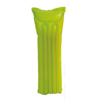 INTEX PVC Liegematratze 183x69cm Luftmatratze Wasser Strand grün gelb orange – Bild 3