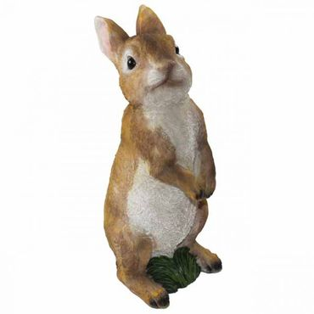 Kaninchen stehend 9.5x10x22,5cm Polyresin wetterfest Garten Dekoration Deko Hase