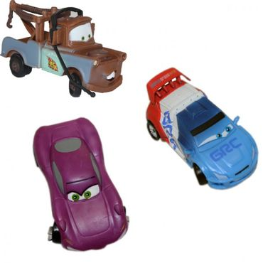 Set 3: Disney Cars Autofiguren Set Hook Raoul CaRoule Holly Shiftwell Figur Kunststoff