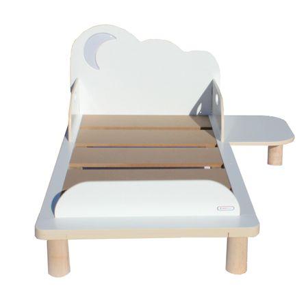 Kinderbett Starbright Toddler Bed Bett Nachtlicht Licht Sterne Mond Kinderbett mit Nachtisch und Lampe – Bild 1