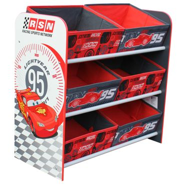 Disney CARS Lightning McQueen Toy Organizer Kids Storage Aufbewahrungsboxen Kinderregal 6 Boxen