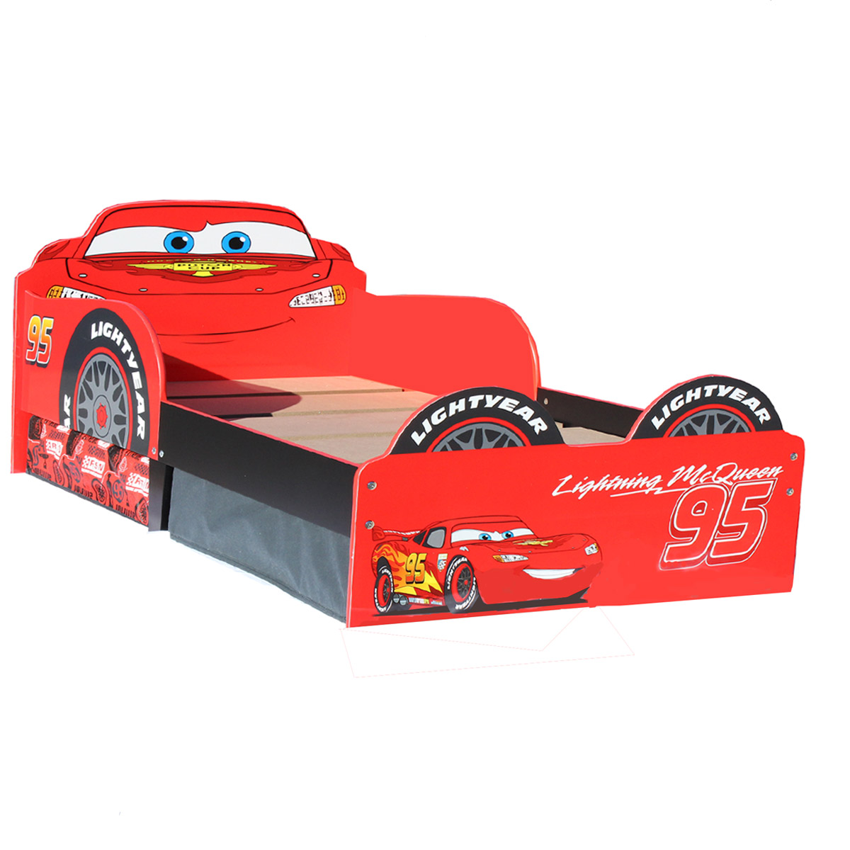 Disney CARS Toddler Bed Storage Kinderbett Bett Lightning McQueen ...