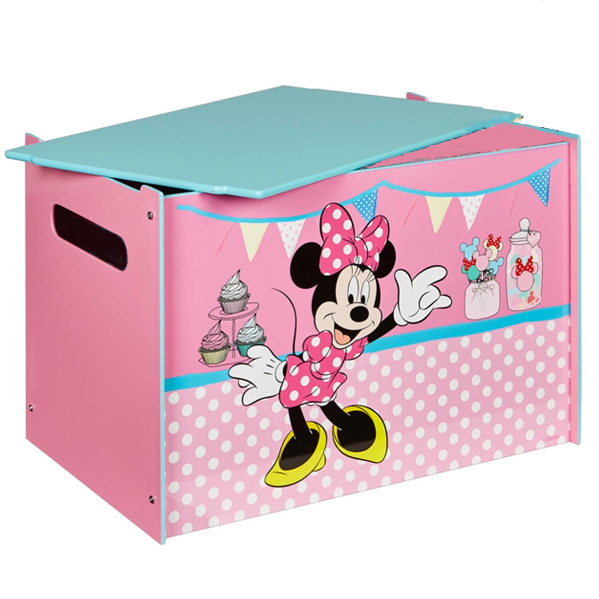 Disney Minnie Mouse Toy Box Mdf Holz Deckel Spielzeugkiste