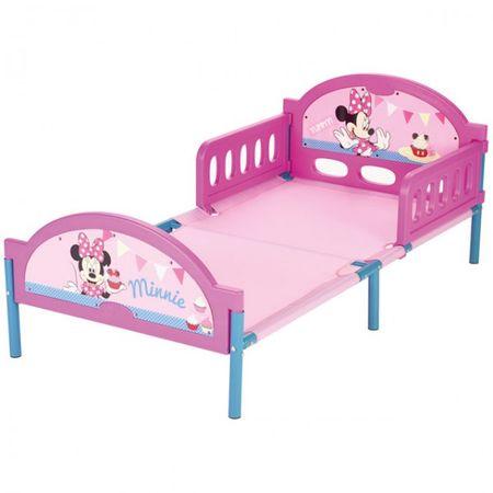 Disney Minnie Mouse Bett 140x70 cm Kinderbett Kinderzimmer Mädchen Zimmer Metall Kunststoff