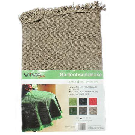 VIVA Gartentischdecke geschäumt rund 160 cm wasserfest Gartentisch Abdeckung Camping – Bild 5