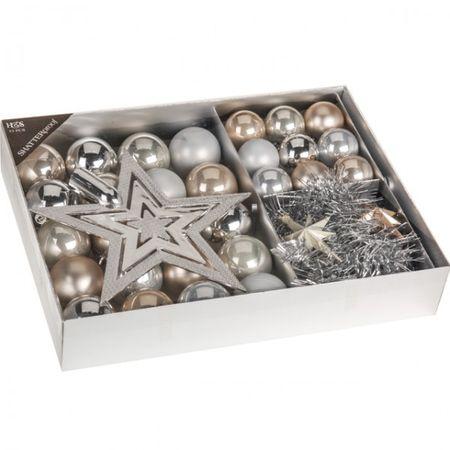 33 tlg. Set Weihnachtsbaumschmuck Weihnachtskugeln Christbaumkugeln Weihnachten Tanne Baum – Bild 2