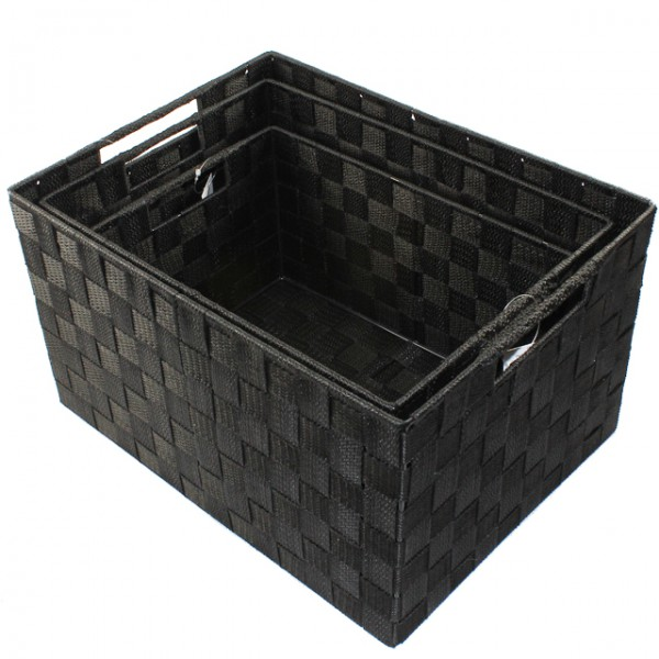 XXL Aufbewahrungsbox 3er Set Badezimmer Kiste Korb geflochten Kiste ...