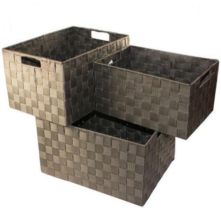 XXL Aufbewahrungsbox 3er Set Badezimmer Kiste Korb geflochten Kiste Kosmetik Box – Bild 6