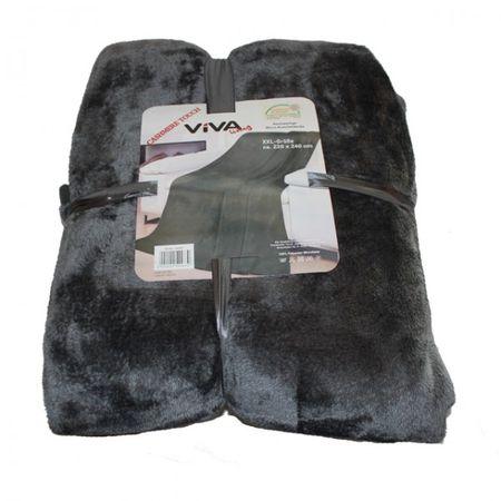 Microfaserdecke Cashmere Touch 220x240 cm Übergröße Sofadecke Kuscheldecke weich – Bild 6