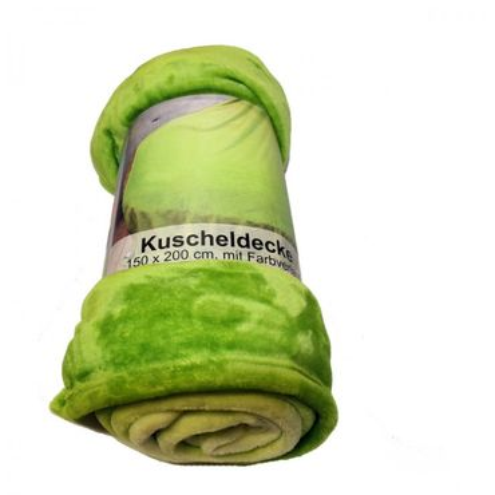 Flanelldecke Farbverlauf 150x200 cm Kante umgelegt Polyester Kuschel Decke weich – Bild 4