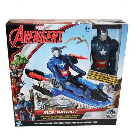Hasbro B0431Marvel The Avengers Titan Heroes Captain America Iron Figur Fahrzeug – Bild 2