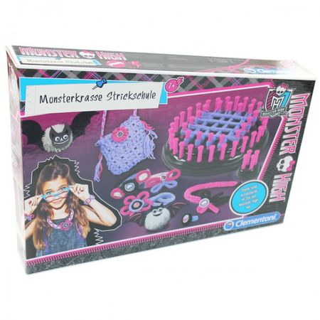 Clementoni 69348 Monster High Monsterkrasse Strickschule Stricken lernen Kinder