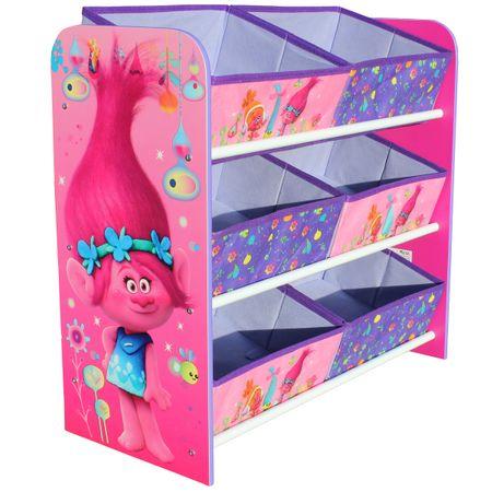 TROLLS Multi Regal Toy Organizer Kinder Möbel Spielzeug Aufbewahrung Kinderzimmer – Bild 1