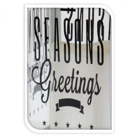 LED Laterne mit Kerze weiß oder schwarz mit Spruch/Text 28cm Weihnachten Deko – Bild 5