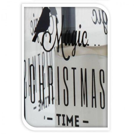 LED Laterne mit Kerze weiß oder schwarz mit Spruch/Text 28cm Weihnachten Deko – Bild 3